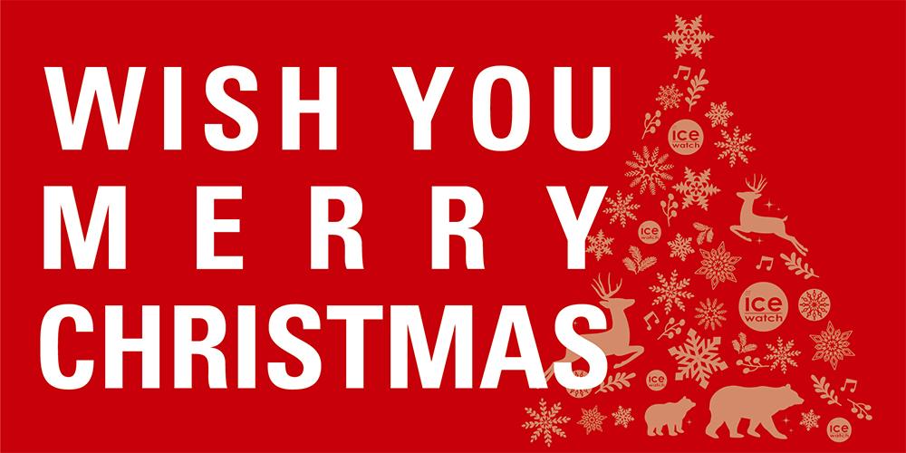 WISH YOU MERRY CHRISTMAS アイスウォッチクリスマスフェア開催