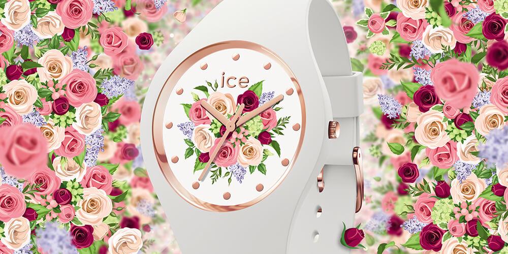"""フラワーショップ """"カレンド"""" 限定アイスウォッチ8種類の様々な総花柄腕時計「アイス フラワー」発売"""